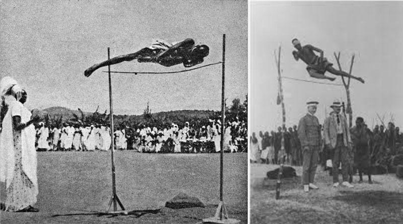 Forgotten African high jump game. Best game in Rwanda before colonialism