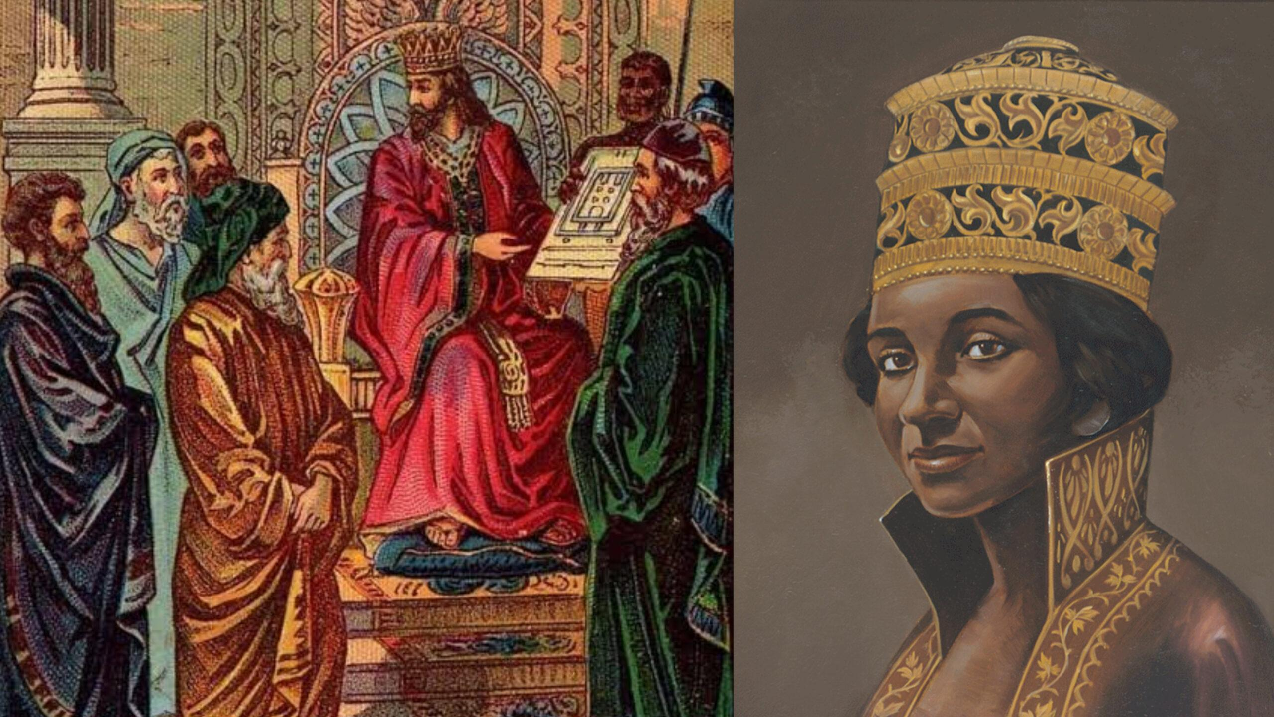 Queen of Sheba-Makeda, intelligent African queen who visited King Solomon to verify his wisdom
