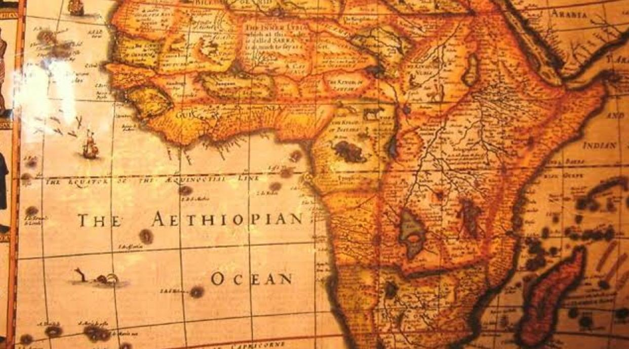 The Atlantic Ocean was known as Ethiopian Ocean until the 19th century