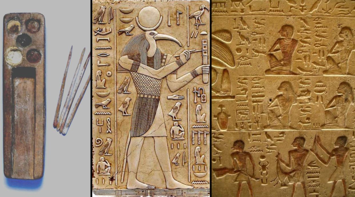 The Ancient Egyptians were writing around 3100BC