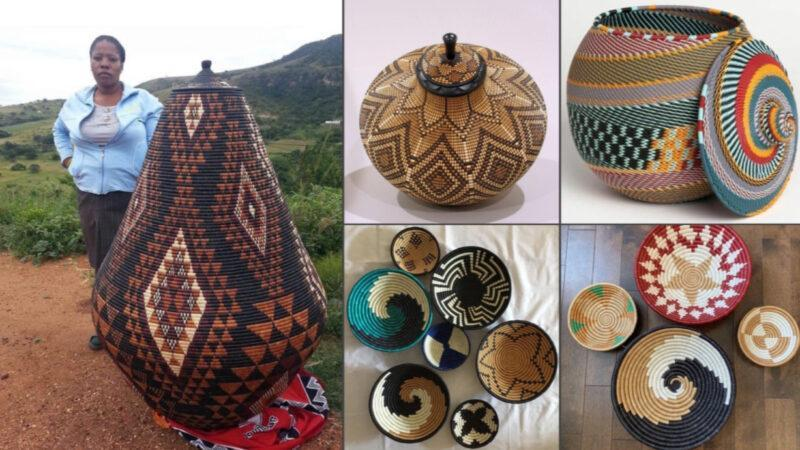 Made by African women: Beautiful handmade baskets used for food storage & winnowing grain