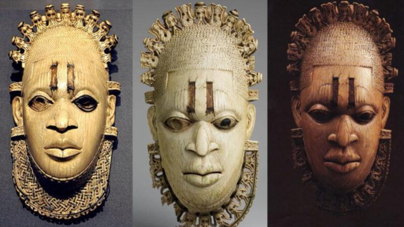 Ivory portrait of Queen Mother Idia of Benin Empire. Looted by British 123 years ago