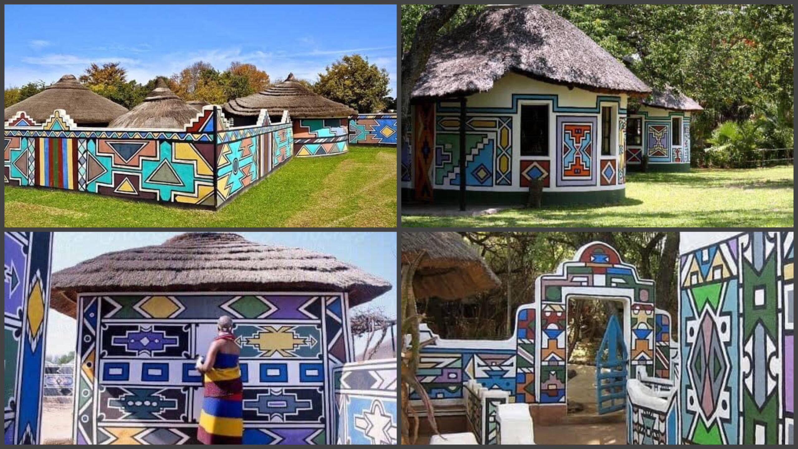 Fascinating art. Traditional wall painting by South African women [pictures]