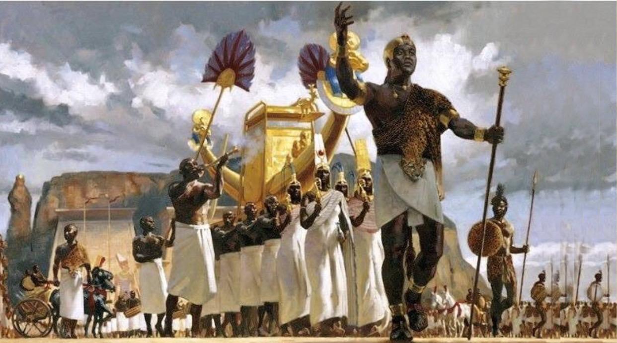 Nubians kingdom of Kush ruled ancient Egypt from 700 BC