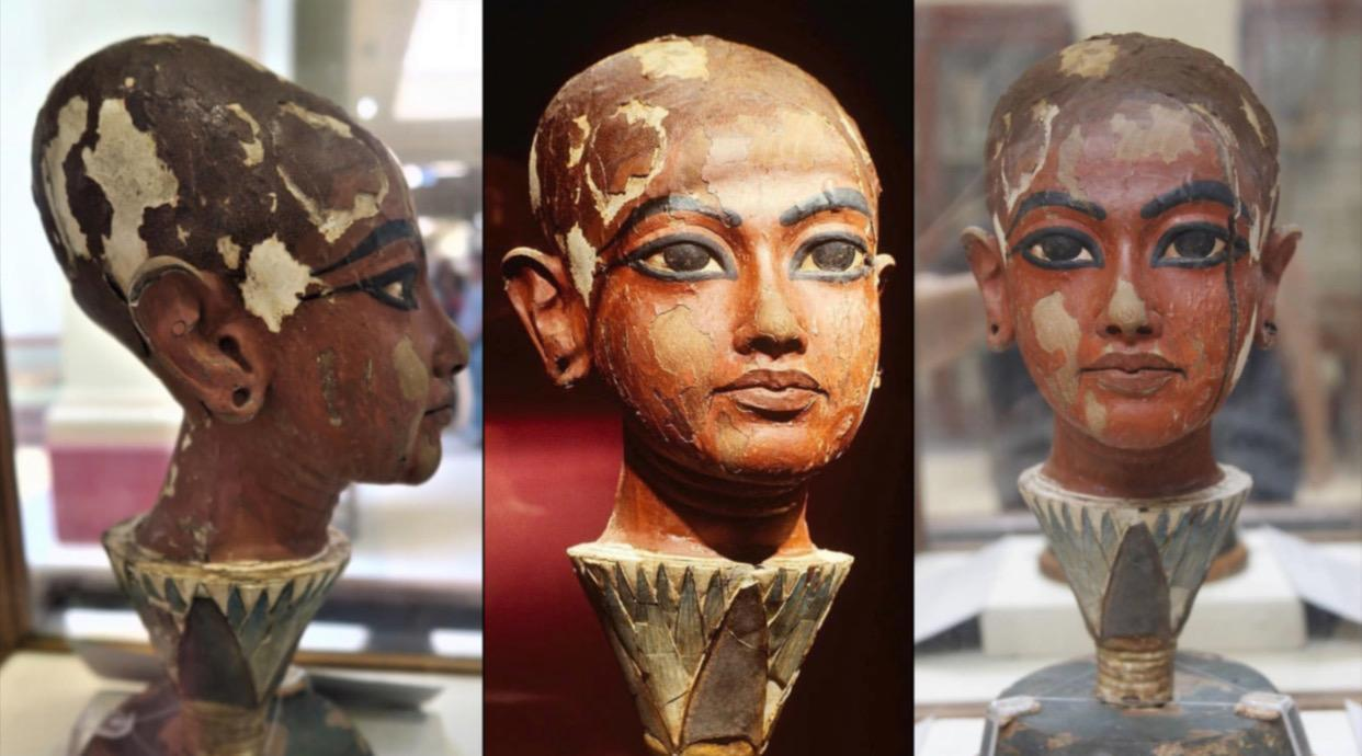 Head of King Tutankhamun as a child that reveals his black descent [1334 – 1325 B.C]
