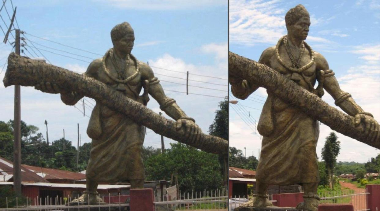Idubor, giant prince of Benin who could uproot palm trees with his bare hands