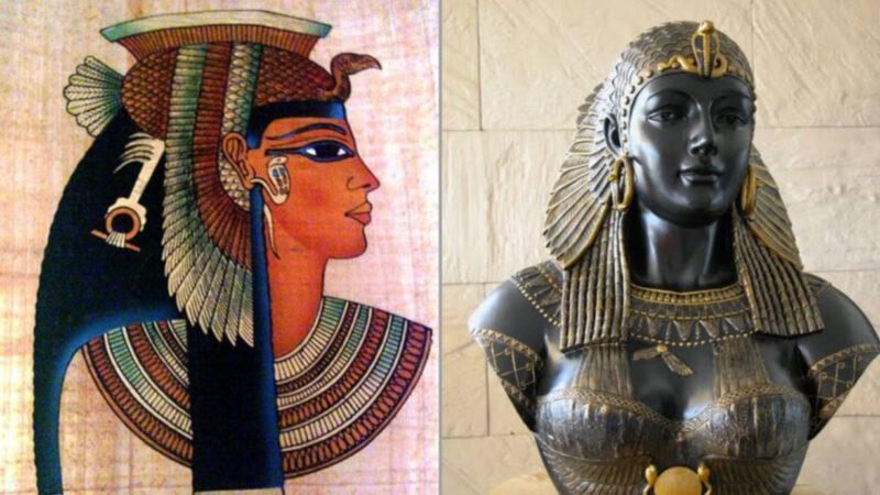 Queen Cleopatra, a popular African political figure from ancient Egypt