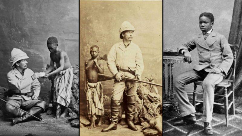"Kalulu, the 12-year-old salve boy ""Kalulu Falls"" (Congo River Falls) named after him"