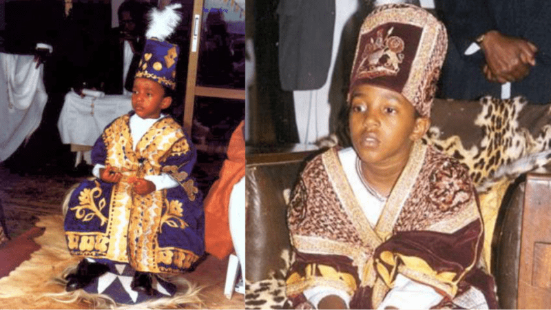 King Oyo, the world's youngest king who ascended the throne at age 3
