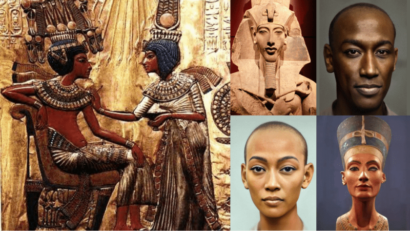 Dutch photographer reveals modern image of Pharaoh Akhenaten & Queen Nefertiti