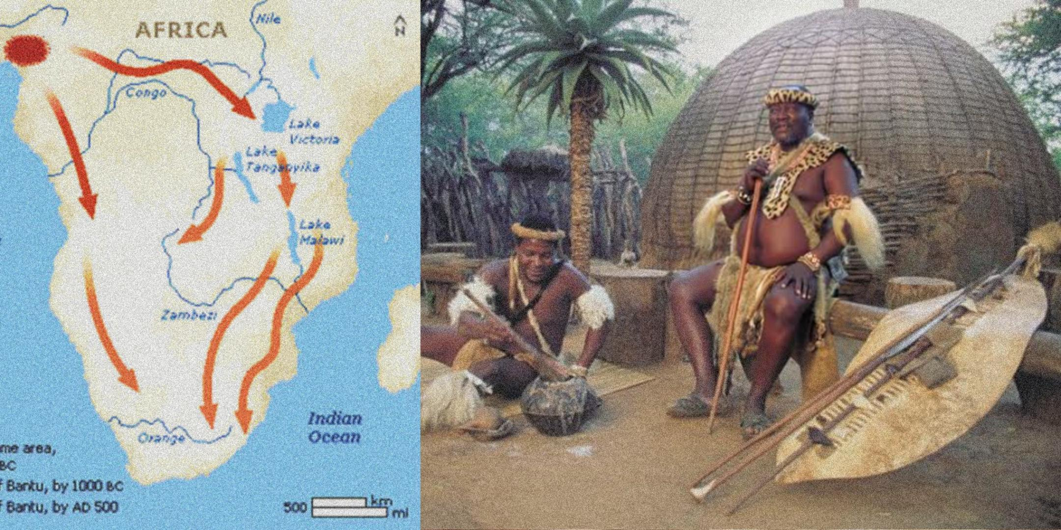 Bantu-speakers arrive in present-day South Africa with iron & cattle 1500 years ago