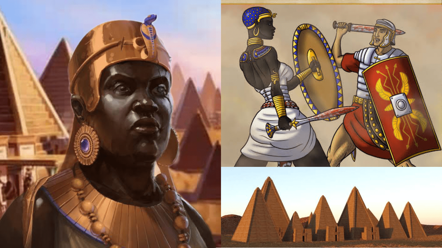 Amanirenas, the brave one-eyed Nubian queen who led an army against the Romans in 24 BC