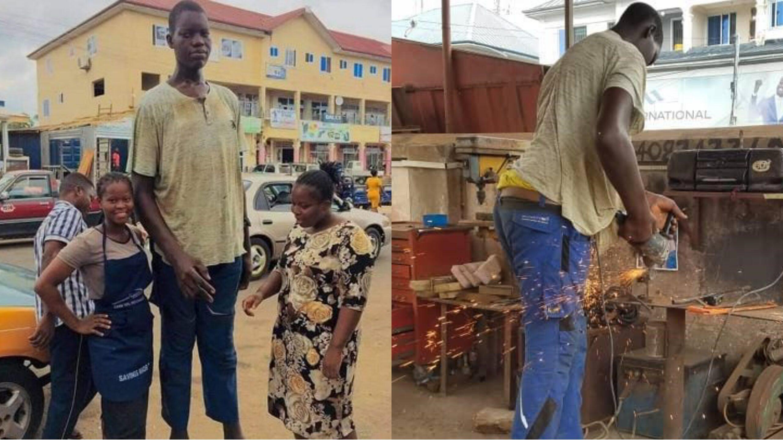 'Tallest'man appeals for footwear in Africa