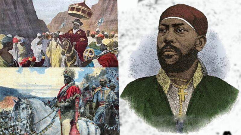 King Menelik II, the lion of the Battle of Adwa 1896 where Ethiopian Empire defeated Italian army