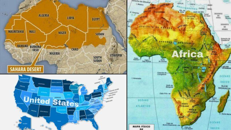 Africa's Sahara Desert is more times bigger than United States of America